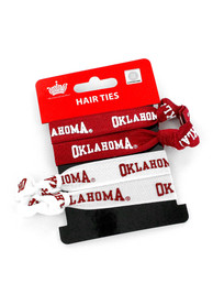 Oklahoma Sooners Kids 4PK Hair Ribbons - Crimson