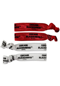 Chicago Blackhawks Kids 4PK Hair Ribbons - Red