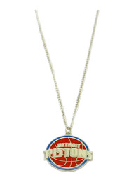 Detroit Pistons Womens Logo Necklace - Red