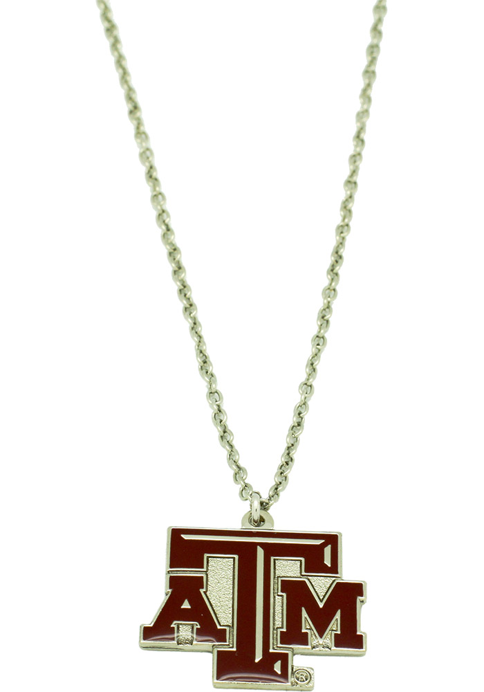 Texas A&M Aggies Logo Necklace, Red