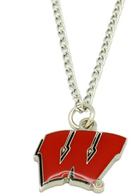 Wisconsin Badgers Womens Logo Necklace - Red