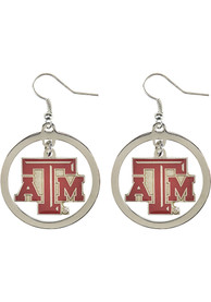 Texas A&M Aggies Womens Floating Hoop Earrings - Red