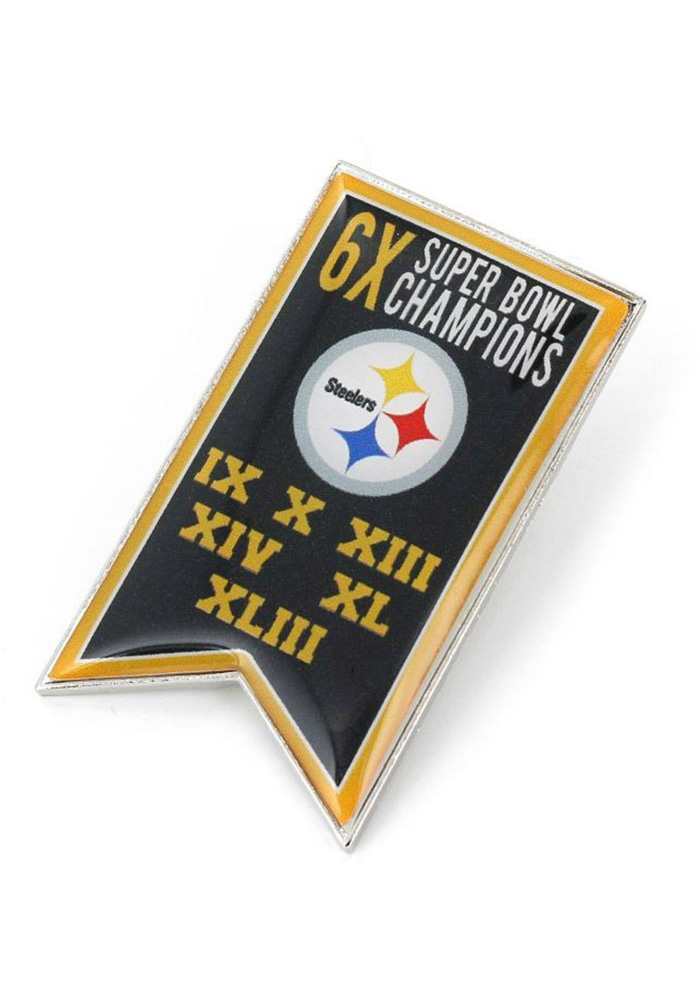 Pittsburgh Steelers Souvenir Super Bowl Champions Banner Pin - Image 1