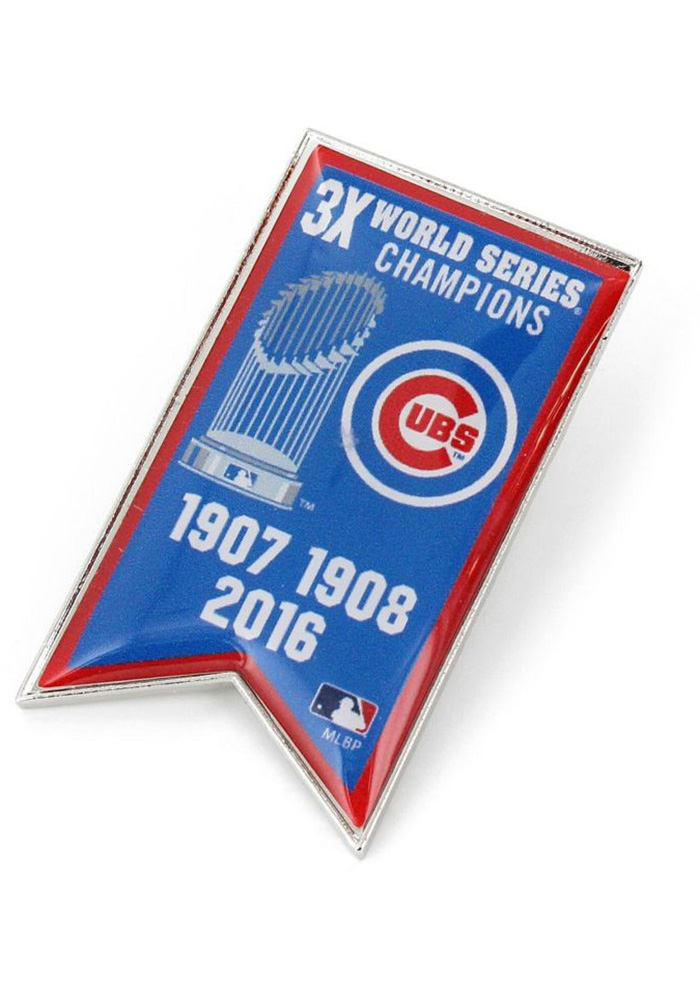 Chicago Cubs World Series Champions Banner Pin