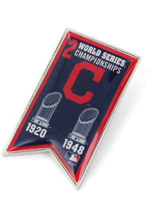 Cleveland Indians World Series Champions Banner Pin