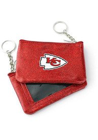 Kansas City Chiefs Womens Sparkle Coin Purse - Red