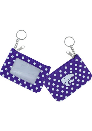 K-State Wildcats Polka Dot Womens Coin Purse