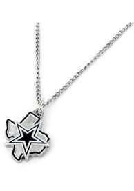 Dallas Cowboys Womens State Design Necklace - Navy Blue