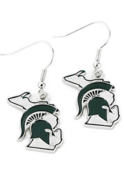 Michigan State Spartans State Design Womens Earrings