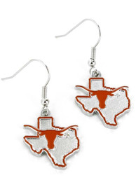 Texas Longhorns Womens State Design Earrings - Burnt Orange