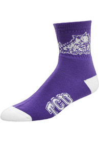 TCU Horned Frogs Team Color Quarter Socks - Purple