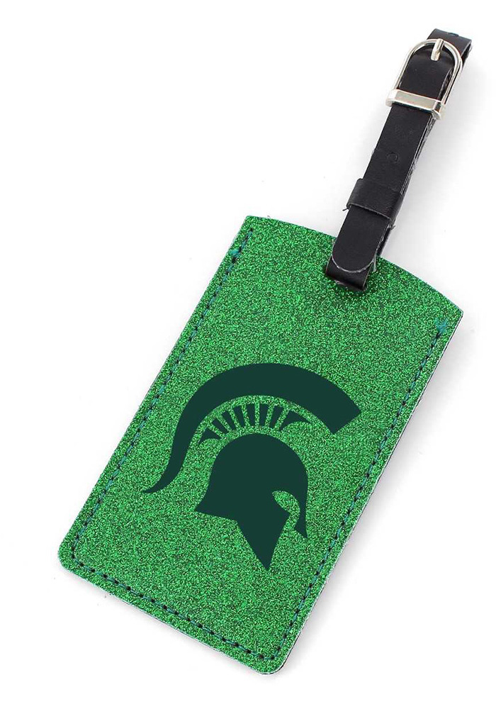 Michigan State Spartans Sparkle Luggage Tag - Green