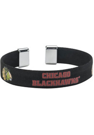 Chicago Blackhawks Womens Ribbon Bracelet - Black