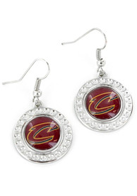 Cleveland Cavaliers Womens Dimple Earrings - Red