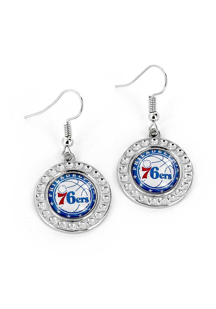 Philadelphia 76ers Dimple Womens Earrings - Image 1