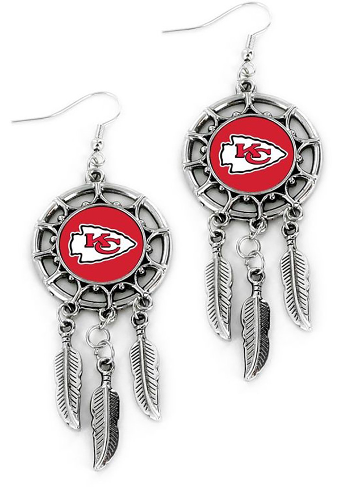 Kansas City Chiefs Dream Catcher Womens Earrings - Image 1