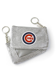 Chicago Cubs Womens Sparkle Coin Purse - Red