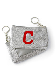 Cleveland Indians Womens Sparkle Coin Purse - Silver