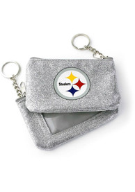 Pittsburgh Steelers Womens Sparkle Coin Purse - Silver