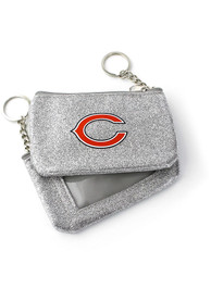 Chicago Bears Womens Sparkle Coin Purse - Silver