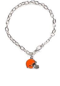 Cleveland Browns Womens One Charm Bracelet - Brown