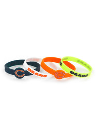 Chicago Bears Kids 4pk Silicone Bracelet - Navy Blue