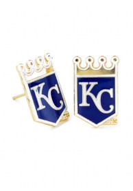 Kansas City Royals Womens Crown Logo Post Earrings - Blue