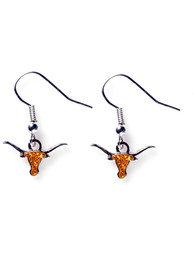 Texas Longhorns Womens Dangler Earrings - Burnt Orange