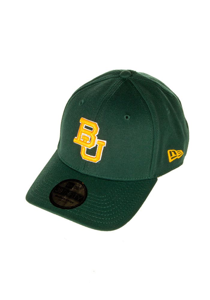 New Era Baylor Bears Mens Green Classic 3930 Flex Hat - Image 1