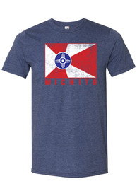 Wichita Navy Blue City Flag Sort Sleeve T Shirt
