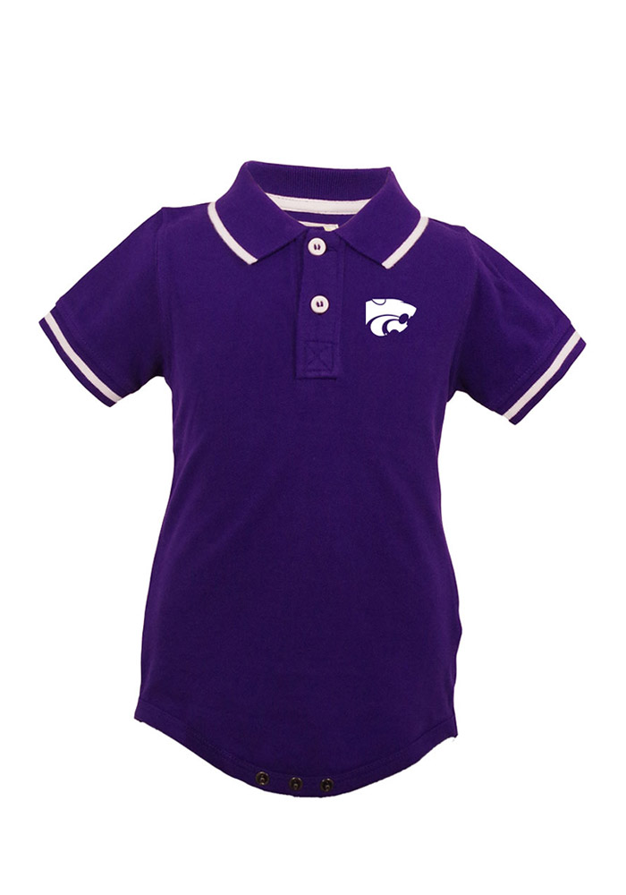 K-State Wildcats Baby Purple Infant Charlie Polo Creeper 91970237