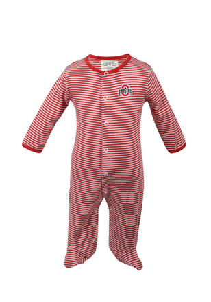 Ohio State Buckeyes Baby Infant Reagan Red Infant Reagan Creeper Pajamas