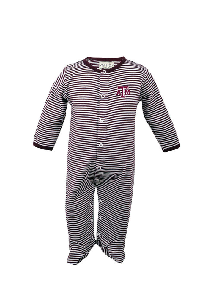 Texas A&M Aggies Baby Maroon Infant Reagan Long Sleeve Creeper - Image 1