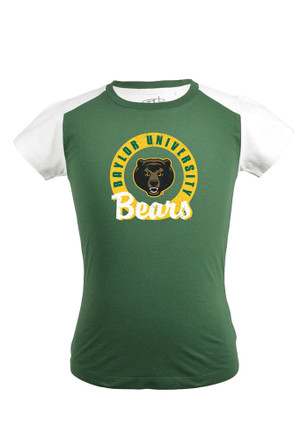 Baylor Bears Girls Green Youth Girls Claire Fashion T-Shirt