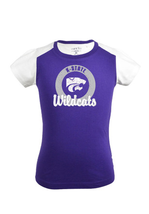 K-State Wildcats Girls Purple Youth Girls Claire T-Shirt