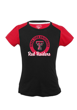 Texas Tech Red Raiders Girls Black Youth Girls Claire T-Shirt