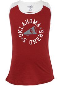 Oklahoma Sooners Girls Kelsey Tank Top - Crimson