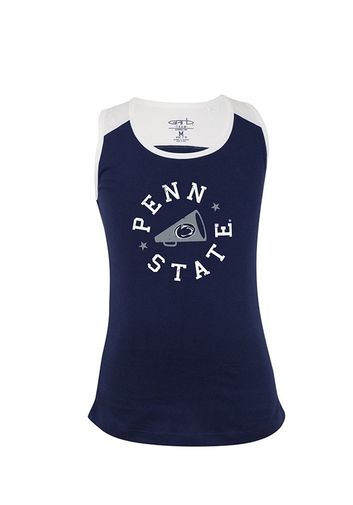 Penn State Nittany Lions Girls Navy Blue Kelsey Short Sleeve Tank Top - Image 1