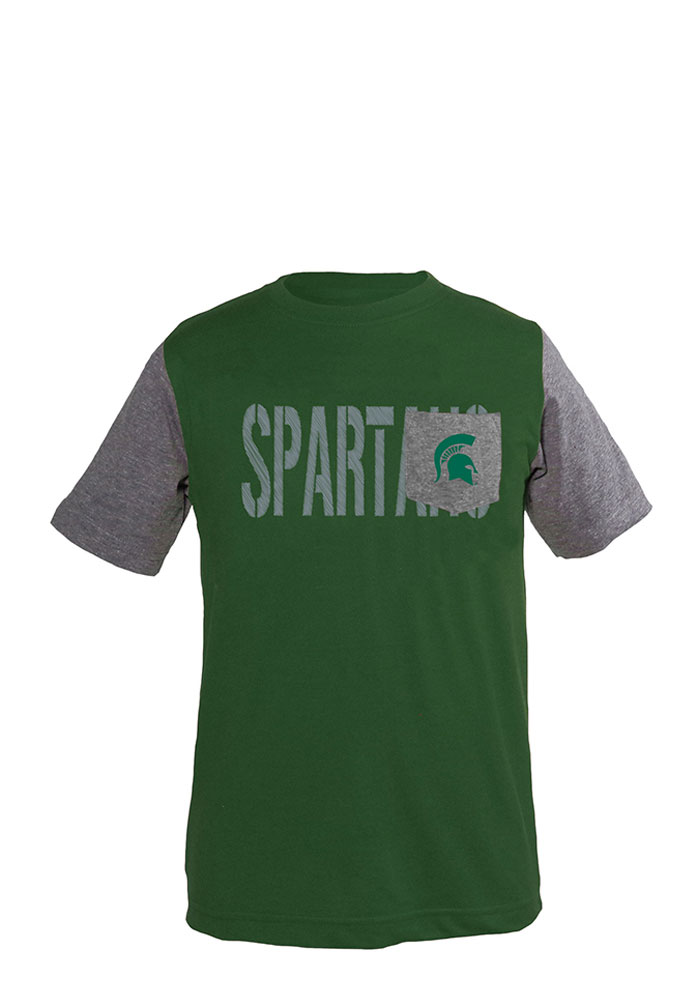 Michigan State Spartans Youth Green Jared Fashion Tee