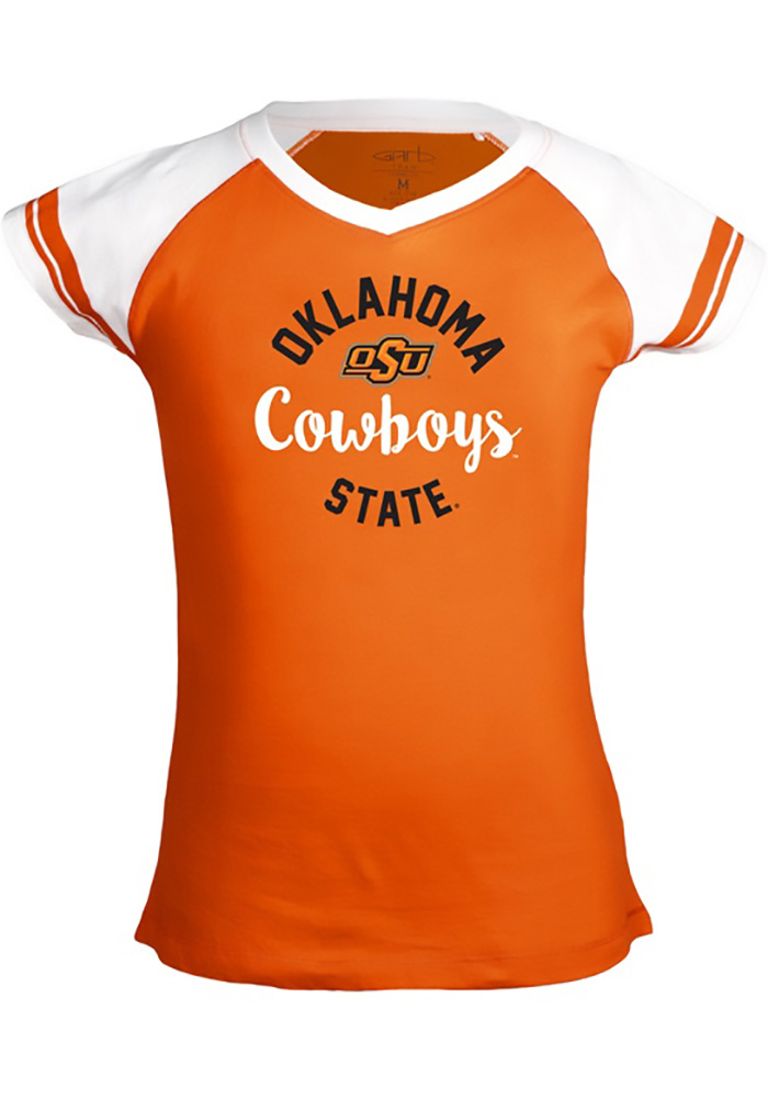 Oklahoma Sooners Youth Orange Calley Short Sleeve Fashion T-Shirt - Image 1