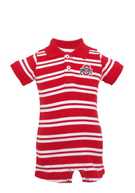 Ohio State Buckeyes Baby Red Oliver Polo One Piece