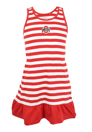 Ohio State Buckeyes Toddler Girls Red Juliet Dresses