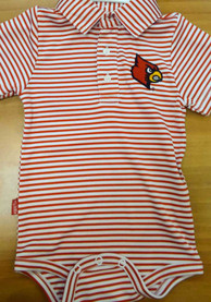 Louisville Cardinals Baby Red Carson Polo One Piece