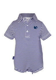 Penn State Nittany Lions Baby Navy Blue Carson Polo One Piece