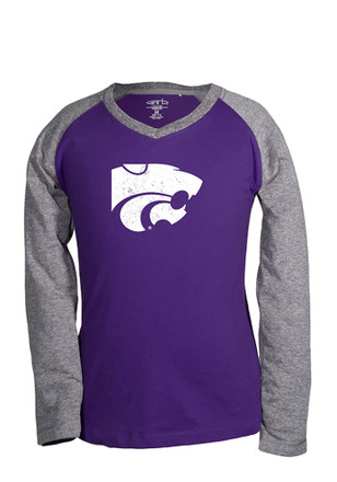 K-State Wildcats Kids Purple Courtney T-Shirt