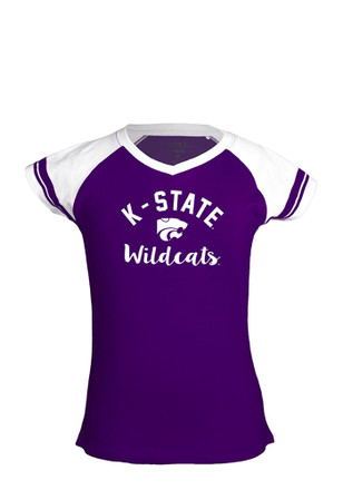 K-State Wildcats Kids Purple Calley Fashion Tee