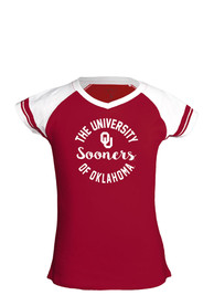 Oklahoma Sooners Girls Calley Fashion T-Shirt - Crimson