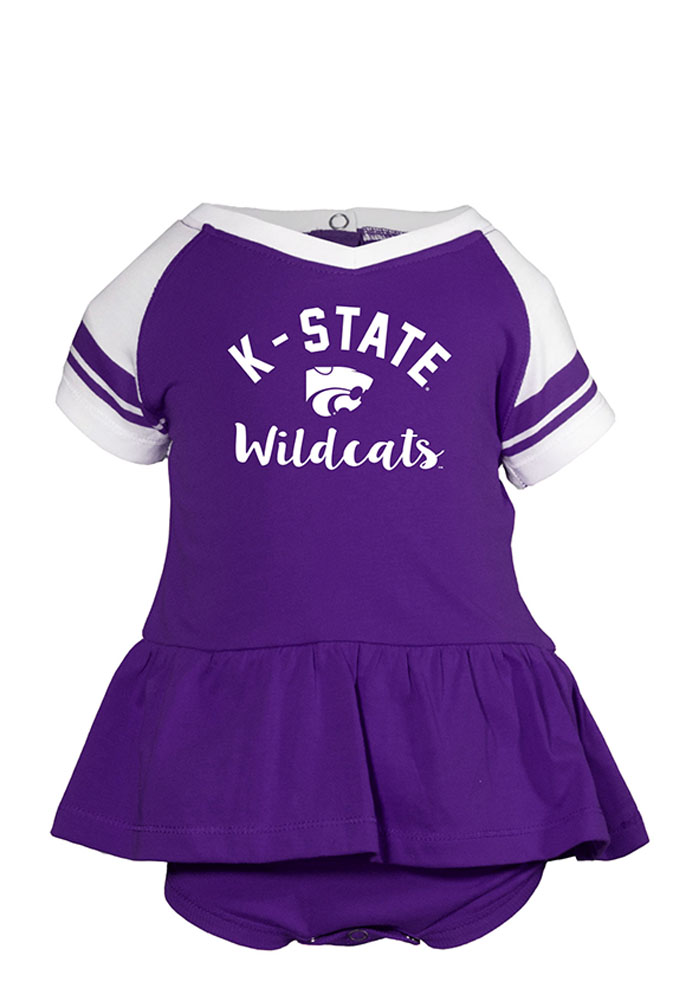 K-State Wildcats Baby Purple Calley Short Sleeve Creeper - Image 1