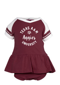 Texas A&M Aggies Baby Maroon Calley One Piece