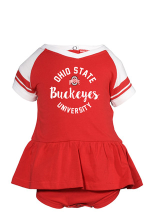 Ohio State Buckeyes Baby Red Calley Creeper